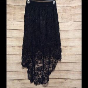 Dresses & Skirts - Black Lace High Low Skirt (no tag)
